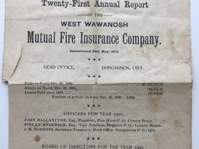 HISTORY 1901 Annual Report